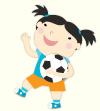 Kindermusik girl with a footballK