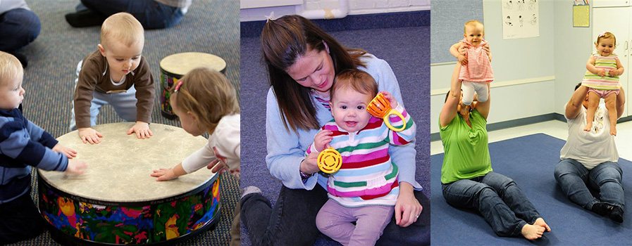 Baby and young toddler Kindermusik class