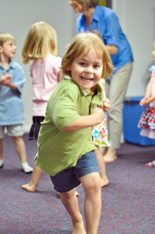 Movement at Kindermusik class