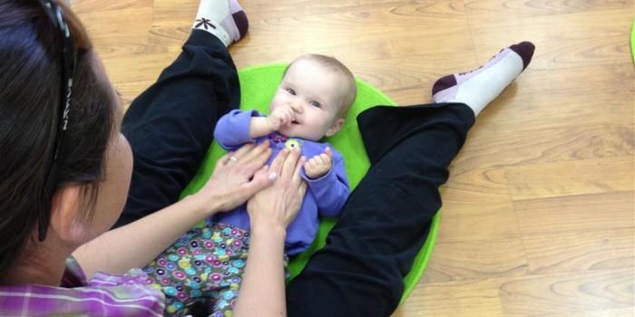 Baby Kindermusik class massage